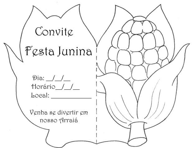 Convite de festa junina infantil   modelo e como fazer